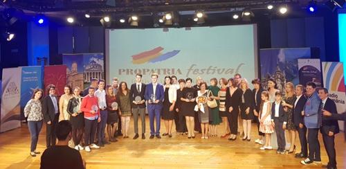 I premiati del Festival Internazionale Propatria Giovani Talenti Romeni