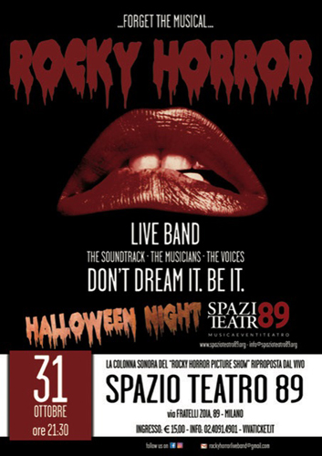 Canzoni, balli, umorismo e trasgressioni: la Rocky Horror Live Band mercoledì 31 ottobre allo Spazio Teatro 89 di Milano