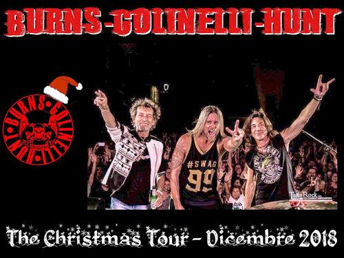 "BGH – Stef Burns Claudio Golinelli Will Hunt, parte da Palermo ""The Christmas Tour"""