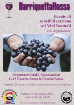 BarriquettaRossa. Sensibilizzazione al Vino naturale con degustazione