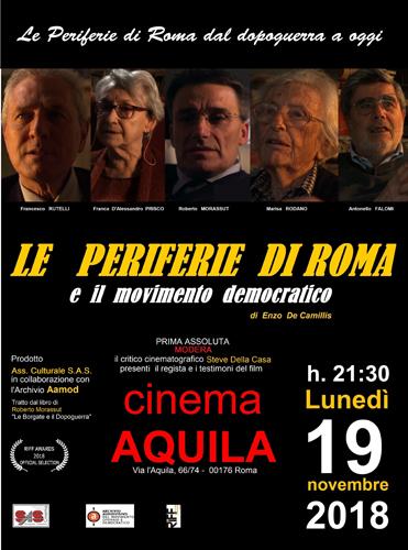 Enzo De Camillis al RIFF con il Documentario Le Periferie di Roma e il Movimento Democratico