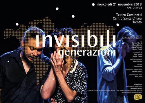 """""""Invisibili generazioni"""", approda a Trento lo spettacolo teatrale sulla nuova emigrazione giovanile"""
