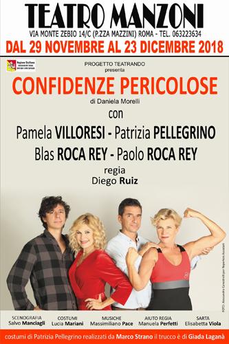 Confidenze pericolose, lo spettacolo di Daniela Morelli al Teatro Manzoni di Roma