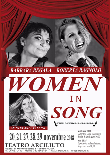 """Women in song"" al Teatro Arciliuto di Roma"