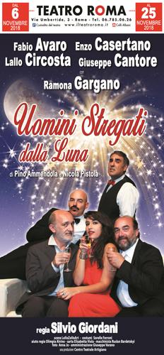 Uomini stregati dalla luna di Pino Ammendola e Nicola Pistoia al Teatro Roma