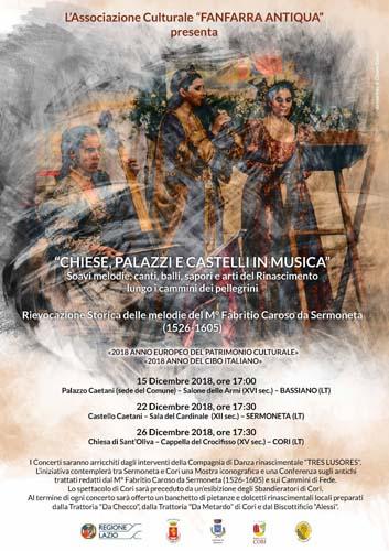 """A Bassiano """"Chiese, palazzi e castelli in musica"""""""