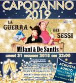 La guerra dei sessi con Danilo De Santis e Francesca Milani. Capodanno 2019 al Teatro Golden di Roma