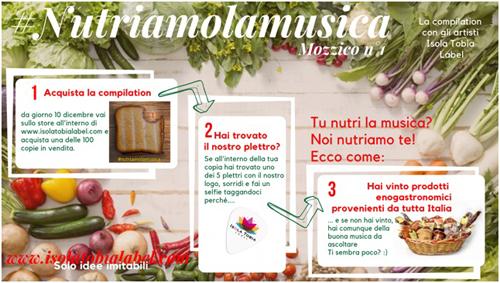 #Nutriamolamusica, la nuova iniziativa di Isola Tobia Label