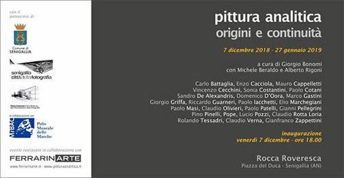 Pittura Analitica origini e continuitą alla Rocca Roveresca di Senigallia
