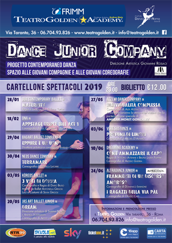 "Per la rassegna Dance Junior Company al Teatro Golden di Roma va in scena ""Maternity"" della compagnia Our contemporary Ballet"