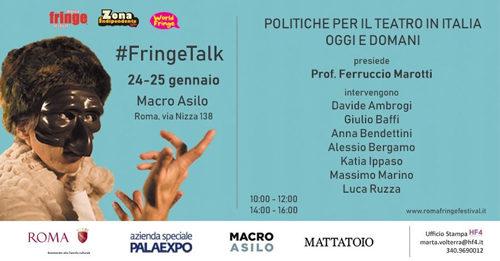 Politiche per il teatro in Italia oggi e domani al Macro Asilo il 24 e 25 gennaio