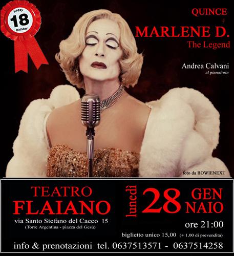 Marlene D. The Legend, lo spettacolo di e con Riccardo Castagnari al Teatro Flaiano di Roma