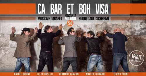 Rafael Didoni, Folco Orselli, Germano Lanzoni, Walter Leonardi e Flavio Pirini sono i protagonisti della nuova serata dello Spirit De Milan