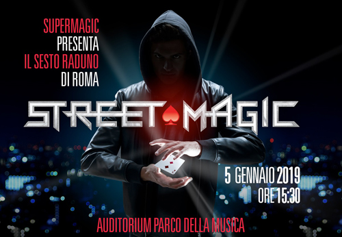 Supermagic presenta il sesto Raduno di Street Magic a Roma all'Auditorium Parco della Musica di Roma
