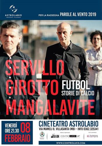 Parole al vento. Il trio Servillo-Girotto-Mangalavite inaugura a Villasanta la terza edizione