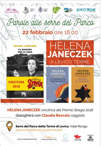 """Parole alla serra del Parco"", con Helena Janeczek"
