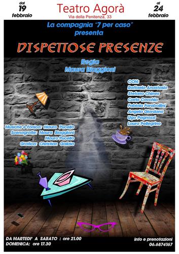 Dispettose presenze, lo spettacolo in cartellone fino al 24 febbraio al Teatro Agorà di Roma