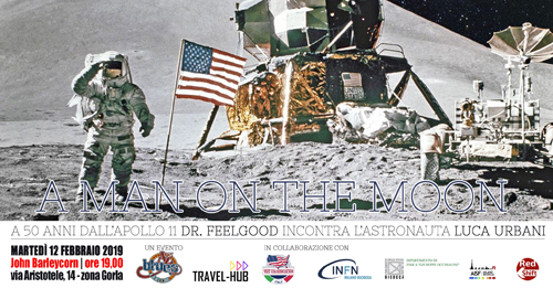 A man on the moon, a 50 anni dall'Apollo 11 il Dr. Feelgood incontra l'astronauta Luca Urbani