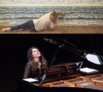 Le onde pittoriche di Susanna Montagna per il concerto di Antonija Pacek IL MARE all'Auditorium di Roma