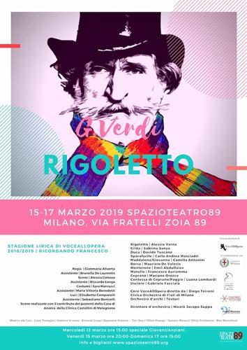 """Torna la lirica allo Spazio Teatro 89 di Milano con VoceAllOpera: in scena """"Rigoletto"""" di Verdi"""