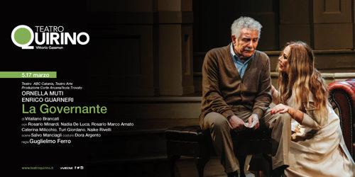 """Ornella Muti in """"La governante"""" di Vitaliano Brancati con Enrico Guarneri al teatro Quirino di Roma"""