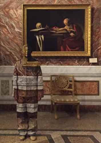 Roma Chinese New Year: Liu Bolin mimetizzato nel San Girolamo di Caravaggio alla Galleria Borghese di Roma