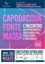 Parole al vento, i cantautori Capodacqua, Fonte e Massa omaggiano Lolli, Ciampi e Pino Daniele all'Astrolabio di Villasanta