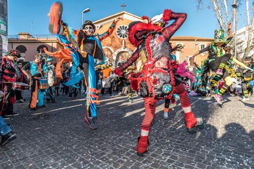 Il Grande Corteo di Carnevale dell'associazione Ex Lavanderia di Roma