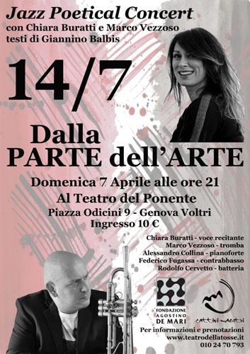 """""""14/7 DU CÔTÈ DE L'ART"""" il nuovo disco del trombettista jazz Marco Vezzoso"""