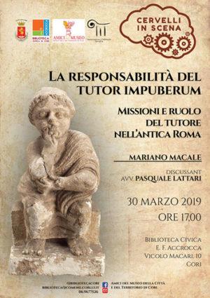 La responsabilità del tutor impuberum. Missioni e ruolo del tutore nell'antica Roma