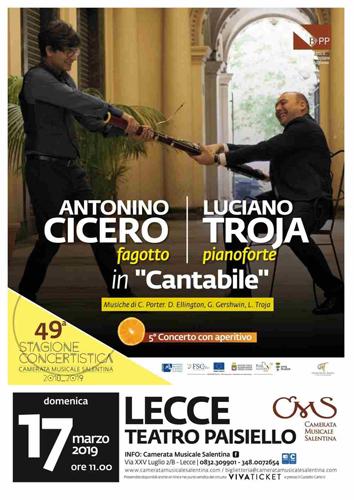 Antonino Cicero e Luciano Troja in concerto a Lecce
