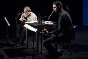"""Neri Marcorè & Edoardo De Angelis in """"Due amici dopo cena"""" a Villasanta per il terzo appuntamento della rassegna Parole al vento"""