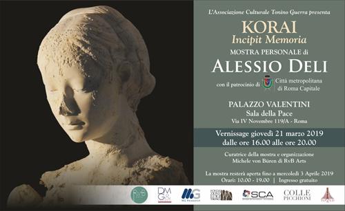 Korai. Incipit Memoria la mostra personale di Alessio Deli nella Sala delle Pace di Palazzo Valentini a Roma