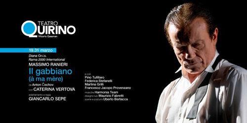 """Massimo Ranieri """"Il gabbiano"""" (à ma mère) da Anton Čechov adattamento e regia Giancarlo Sepe al Teatro Quirino di Roma"""