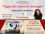 """L'attrice Dora Romano, dopo il successo ottenuto con """"L'Amica Geniale"""" di Saverio Costanzo terrà una Masterclass di Recitazione dal titolo """"Viaggio alla scoperta del personaggio"""""""