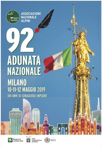 Pronti manifesto e medaglia dell'Adunata del Centenario