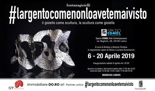 #largentocomenonloavetemaivisto, la mostra allo Spazio COMEL Arte Contemporanea di Latina