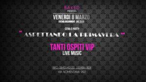 Aspettando la primavera, l'evento per l'8 marzo al Baked di via Nomentana a Roma