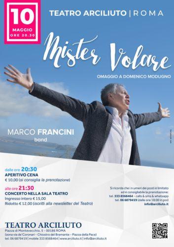 Marco Francini e la sua Band presenta al Teatro Arciliuto di Roma