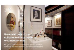 Prendersi cura di una collezione di arte moderna e contemporanea. Progetto formativo condotto da Rischa Paterlini