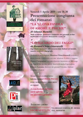 Incontro con due giovani autori venerdì 5 aprile alla libreria 'Horafelix' di Roma