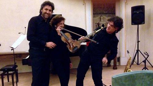 SaxPianoViolin: Mario Marzi, Giovanna Polacco e Antonio Cocomazzi sul palco del Teatro Verdi di Milano