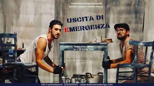 Uscita di emergenza, l'opera di Manlio Santanelli, in scena al Teatro Due di Roma