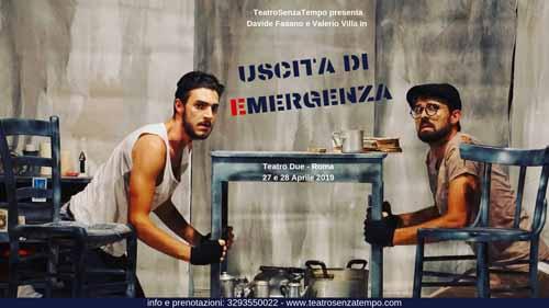 Uscita di emergenza, l'opera di Manlio Santanell,i in scena al Teatro Due di Roma