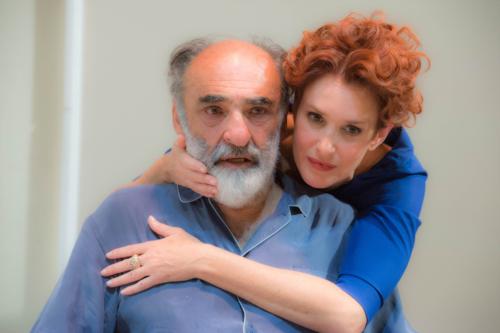 Alessandro Haber e Lucrezia Lante della Rovere in Il padre al Teatro Traiano di Civitavecchia