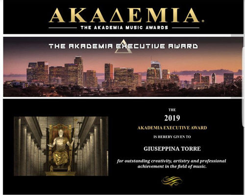 Giuseppina Torre vince l'edizione 2019 degli Akademia Executive Award