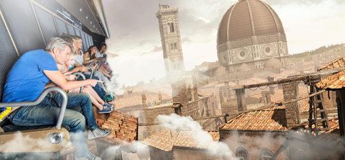 """Arriva """"Volarium"""" il primo cinema volante d'Italia a Cinecittà World dedicato a Leonardo da Vinci"""