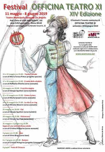Festival Officina Teatro, al via la XIV edizione al Teatro Municipale Pasquale De Angelis a Roma