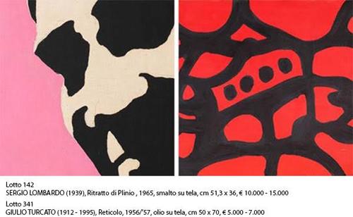 Finarte Roma Opere dalla Collezione della Galleria La Tartaruga Arte Moderna e Contemporanea di Roma