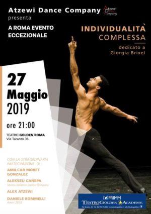 Individualità complesse coreografia di Alex Atzewi con Amilcar Moret Gonzales al Teatro Golden di Roma